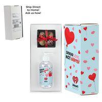 946452347-153 - Valentine's Day 8 oz. Sanitizer & 4 Piece Belgian Chocolate Truffle Box in Mailer Box - (Option 2) - thumbnail