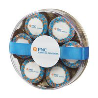 955801883-153 - Custom Belgian Chocolate Covered Oreo® Gift - Corporate Color Nonpareil Sprinkles - thumbnail