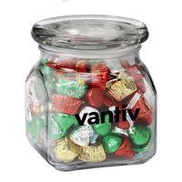 984100077-153 - Contemporary Glass Jar - Hershey's® Holiday Mix (20 oz.) - thumbnail