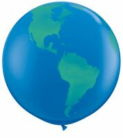 "16719984-157 - 36"" Giant Globe Latex Balloon (Blank) - thumbnail"