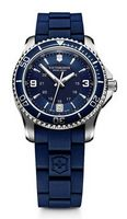 145960617-174 - Maverick Small Blue Dial/Blue Rubber Strap Watch - thumbnail