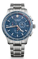 325803458-174 - Alliance Sport Chronograph Stainless Steel Watch w/Blue Dial - thumbnail