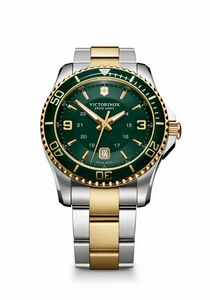 504298923-174 - Maverick Large Green/Gold Dial/Two-Tone Bracelet Watch - thumbnail