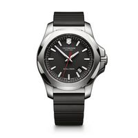 505314257-174 - INOX Large Black Dial/Black Genuine Rubber Strap Watch - thumbnail
