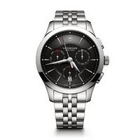 516226413-174 - Chronograph Black Dial Stainless Steel Bracelet Watch - thumbnail