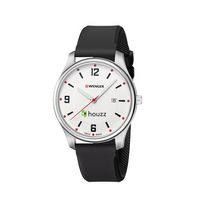 545599264-174 - Small City Active White Dial, Black Silicone Strap - thumbnail