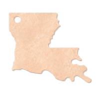 "565802342-174 - 12""x11"" Epicurean Louisiana Shaped Cutting Board - thumbnail"