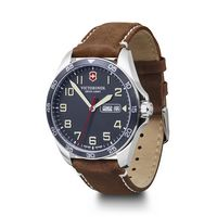 566226369-174 - Blue Dial Brown Leather Strap Watch - thumbnail