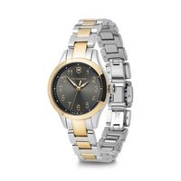 596226379-174 - Small Two Tone Gray Dial Stainless Steel Bracelet Watch - thumbnail