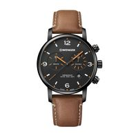 706226342-174 - Metropolitan Chrono Black Dial Leather Strap Watch - thumbnail