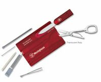 931799878-174 - Swisscard® Ruby Red Multi-Tool Translucent - thumbnail