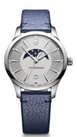 965803437-174 - Alliance Small Moon Phase Silver Dial Watch - thumbnail