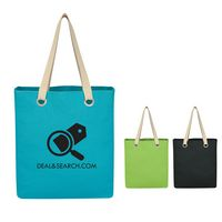 105056668-816 - Vibrant Cotton Canvas Tote Bag - thumbnail