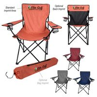 106199524-816 - Heathered Folding Chair With Carrying Bag - thumbnail
