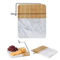 125782274-816 - Marble and Bamboo Cheese Cutting Board With Slicer - thumbnail
