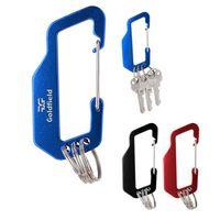 125804143-816 - Aluminum Carabiner With Triple Split Ring - thumbnail