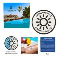 136160027-816 - Sunburn Alert Circle Sticker With Custom Pack - thumbnail