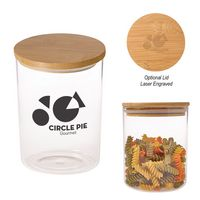 175813404-816 - 26 Oz. Glass Container With Bamboo Lid - thumbnail