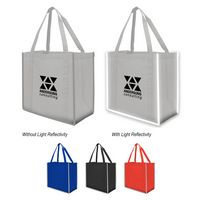 195514662-816 - Reflective Large Non-Woven Grocery Tote Bag - thumbnail