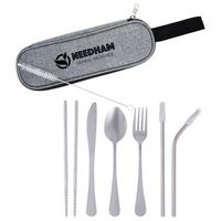 316439667-816 - Stainless Steel Cutlery Set In Pouch - thumbnail