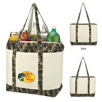 335439400-816 - Camo Canvas Cooler Tote Bag - thumbnail