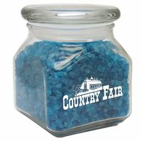 346292562-816 - Small Square Jar w/ Spa Bath Crystals - thumbnail