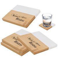 386084043-816 - Marble And Bamboo Coaster Set - thumbnail