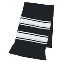 504505620-816 - Two-Tone Knit Scarf With Fringe - thumbnail