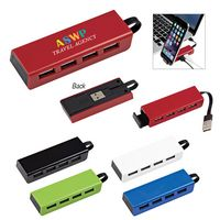 505204961-816 - 4-Port Traveler USB Hub With Phone Stand - thumbnail