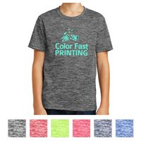 505405837-816 - Sport-Tek® Youth PosiCharge® Electric Heather Tee - thumbnail