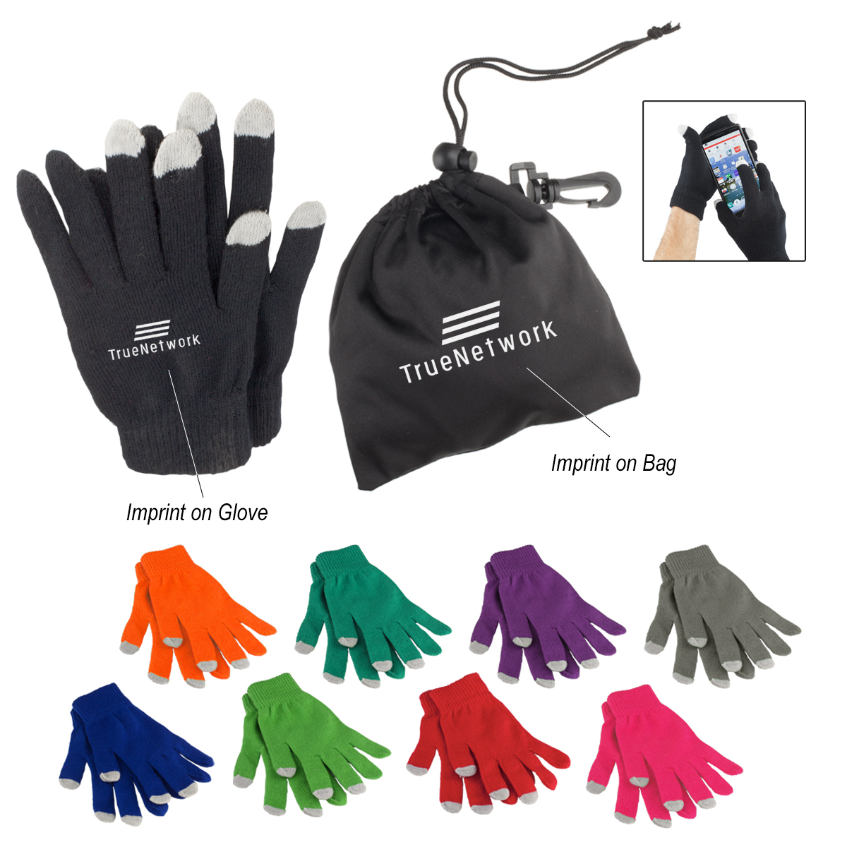 514821108-816 - Touch Screen Gloves In Pouch - thumbnail