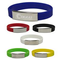 524586459-816 - Silicone Bracelet With Metal Plate - thumbnail