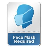 "536305559-816 - 6"" x 8"" Face Mask Wall Sign - thumbnail"