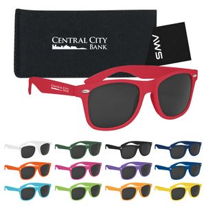 546507381-816 - Aws Velvet Touch Malibu Sunglasses With Pouch & Hang Tag - thumbnail