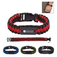 565459119-816 - Paracord Bracelet With Metal Plate - thumbnail