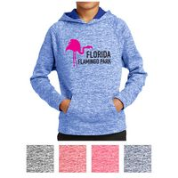 705405132-816 - Sport-Tek® Youth PosiCharge® Electric Heather Fleece Hooded Pullover - thumbnail