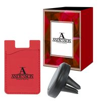 725502593-816 - Magnetic Auto Air Vent Phone Wallet With Custom Box - thumbnail