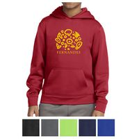 745438580-816 - Sport-Tek® Youth Sport-Wick® Fleece Hooded Pullover - thumbnail
