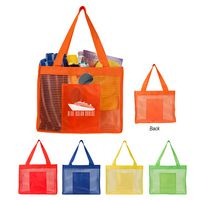 765168255-816 - Sheer Striped Tote Bag - thumbnail