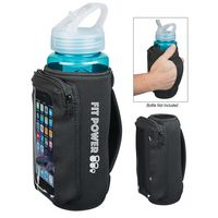 785178195-816 - Neoprene Bottle Cooler With Phone Holder - thumbnail