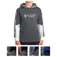 905405130-816 - Sport-Tek® Youth Sport-Wick® Mineral Freeze Fleece Colorblock Hooded Pullover - thumbnail