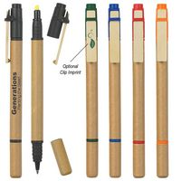 923135401-816 - Dual Function Eco-Inspired Pen With Highlighter - thumbnail