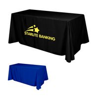 935161015-816 - Flat Polyester 3-Sided Table Cover - fits 6' standard table - thumbnail