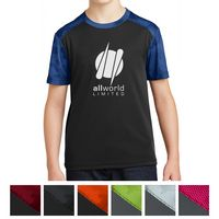 945408086-816 - Sport-Tek® Youth CamoHex Colorblock Tee - thumbnail