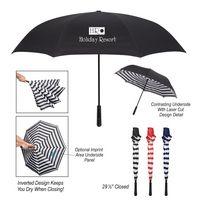 "945760431-816 - 48"" Arc Blanc Noir Inversion Umbrella - thumbnail"