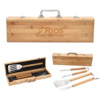 956044932-816 - BBQ Set In Bamboo Case - thumbnail
