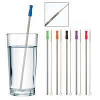 965944314-816 - Stainless Steel Straw with Cleaning Brush - thumbnail