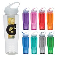 974997553-816 - 28 Oz. Poly-Clean™ Sports Bottle With Fruit Infuser - thumbnail