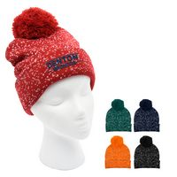 976071008-816 - Speckled Pom Beanie With Cuff - thumbnail