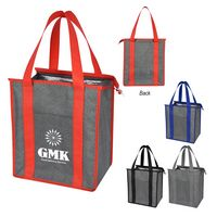 986214128-816 - Heathered Non-Woven Cooler Tote Bag - thumbnail